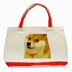 Dogecoin Classic Tote Bag (red)  by dogestore