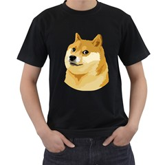 Dogecoin Men s T-Shirt (Black) by dogestore