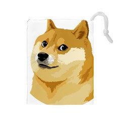 Dogecoin Drawstring Pouches (large)  by dogestore