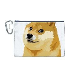 Dogecoin Canvas Cosmetic Bag (m) by dogestore