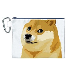 Dogecoin Canvas Cosmetic Bag (L) by dogestore