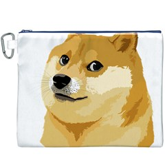 Dogecoin Canvas Cosmetic Bag (xxxl)  by dogestore