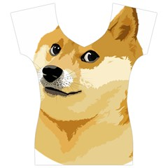 Dogecoin Women s V-Neck Cap Sleeve Top by dogestore