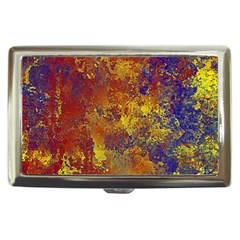 Abstract in Gold, Blue, and Red Cigarette Money Cases by theunrulyartist