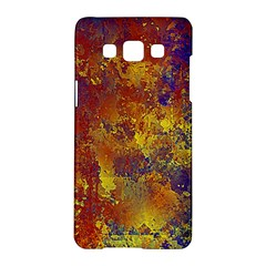 Abstract In Gold, Blue, And Red Samsung Galaxy A5 Hardshell Case  by theunrulyartist