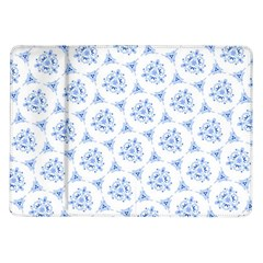Sweet Doodle Pattern Blue Samsung Galaxy Tab 10 1  P7500 Flip Case by ImpressiveMoments