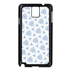 Sweet Doodle Pattern Blue Samsung Galaxy Note 3 N9005 Case (black) by ImpressiveMoments