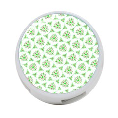 Sweet Doodle Pattern Green 4 Port Usb Hub (two Sides)  by ImpressiveMoments