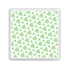 Sweet Doodle Pattern Green Memory Card Reader (square)  by ImpressiveMoments