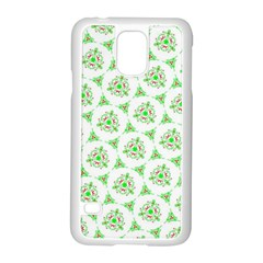 Sweet Doodle Pattern Green Samsung Galaxy S5 Case (White) by ImpressiveMoments