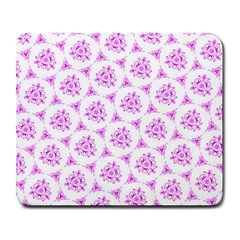 Sweet Doodle Pattern Pink Large Mousepads by ImpressiveMoments