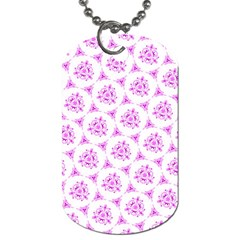 Sweet Doodle Pattern Pink Dog Tag (one Side) by ImpressiveMoments