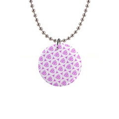 Sweet Doodle Pattern Pink Button Necklaces by ImpressiveMoments
