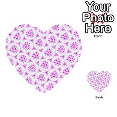 Sweet Doodle Pattern Pink Multi Purpose Cards (heart)  by ImpressiveMoments