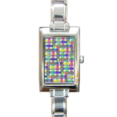 Doodle Pattern Freedom  Rectangle Italian Charm Watches by ImpressiveMoments