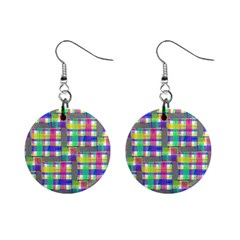 Doodle Pattern Freedom  Mini Button Earrings by ImpressiveMoments