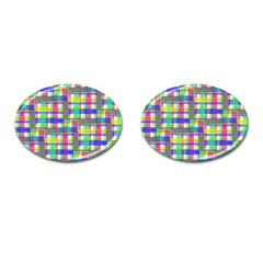 Doodle Pattern Freedom  Cufflinks (oval) by ImpressiveMoments