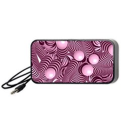 Doodle Fun Pink Portable Speaker (Black)  by ImpressiveMoments