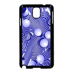 Doodle Fun Blue Samsung Galaxy Note 3 Neo Hardshell Case (Black) by ImpressiveMoments
