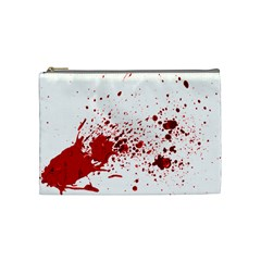 Blood Splatter 1 Cosmetic Bag (Medium)  by TailWags
