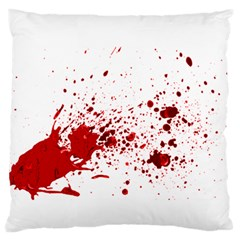 Blood Splatter 1 Standard Flano Cushion Cases (One Side)  by TailWags