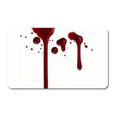 Blood Splatter 4 Magnet (Rectangular) by TailWags
