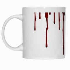 Blood Splatter 5 White Mugs by TailWags