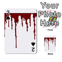 Blood Splatter 5 Playing Cards 54 Designs  by TailWags