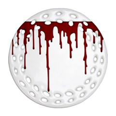 Blood Splatter 5 Round Filigree Ornament (2Side) by TailWags