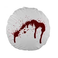 Blood Splatter 6 Standard 15  Premium Flano Round Cushions by TailWags