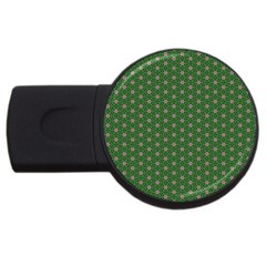 Cute Seamless Tile Pattern Gifts Usb Flash Drive Round (4 Gb)  by creativemom