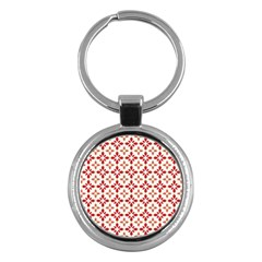 Cute Seamless Tile Pattern Gifts Key Chains (round)  by creativemom