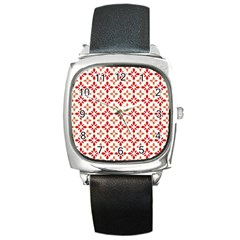 Cute Seamless Tile Pattern Gifts Square Metal Watches by creativemom