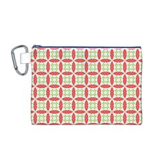 Cute Seamless Tile Pattern Gifts Canvas Cosmetic Bag (m) by creativemom