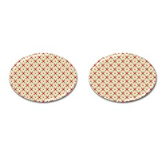 Cute Seamless Tile Pattern Gifts Cufflinks (Oval) by creativemom