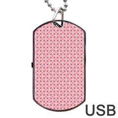 Cute Seamless Tile Pattern Gifts Dog Tag Usb Flash (one Side) by creativemom