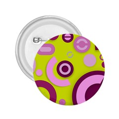 Florescent Yellow Pink Abstract  2 25  Buttons by OCDesignss
