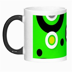 Florescent Green Yellow Abstract  Morph Mugs by OCDesignss