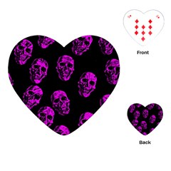 Purple Skulls  Playing Cards (heart)  by ImpressiveMoments