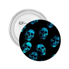 Skulls Blue 2.25  Buttons by ImpressiveMoments