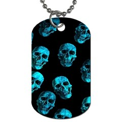 Skulls Blue Dog Tag (one Side) by ImpressiveMoments