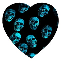 Skulls Blue Jigsaw Puzzle (heart) by ImpressiveMoments