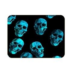 Skulls Blue Double Sided Flano Blanket (mini)  by ImpressiveMoments
