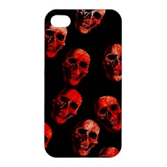 Skulls Red Apple iPhone 4/4S Hardshell Case by ImpressiveMoments