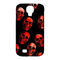 Skulls Red Samsung Galaxy S4 Classic Hardshell Case (pc+silicone) by ImpressiveMoments