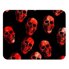 Skulls Red Double Sided Flano Blanket (large)  by ImpressiveMoments
