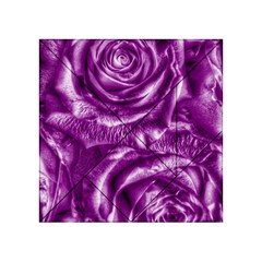 Gorgeous Roses,purple  Acrylic Tangram Puzzle (4  x 4 ) by MoreColorsinLife