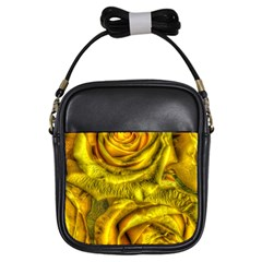 Gorgeous Roses, Yellow  Girls Sling Bags by MoreColorsinLife