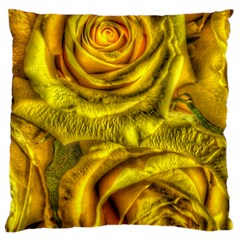 Gorgeous Roses, Yellow  Standard Flano Cushion Cases (two Sides)  by MoreColorsinLife