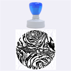 Gorgeous Roses, Aqua Rubber Round Stamps (large) by MoreColorsinLife